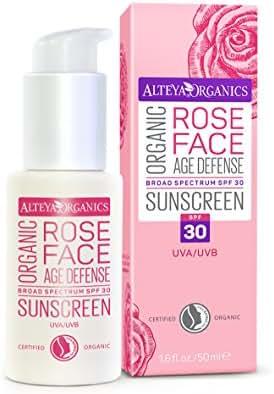 Alteya Organics Rose Face Organic Sunscreen SPF 30 Tinted