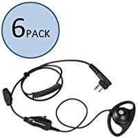 Motorola HKLN4599 D-Shaped Earpiece (6 Pack)