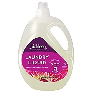 Biokleen Natural Laundry Detergent Liquid - 300 Loads 150 Fl Oz - Eco Friendly Non-Toxic Plant Based Safe for Kids and Pets No Artificial Colors or Preservatives