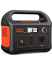 Jackery Portable Power Station Explorer 240, 240Wh Camping Generator with 50Wh Solar Panel, 110V/200W AC Outlet, 12V Car Port, Solar Generator for Fishing Vanlife Picnic