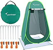 Sportneer Pop Up Privacy Changing Tent Camping Shower Tent, Portable Dressing Bathroom Potty Tent for Camping