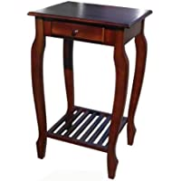 D-ART COLLECTION Mahogany Carolina Table with Drawer