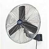 Oscillating Wall Mount Fan, 30 Diameter, 1/3hp, 8775cfm