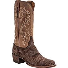 Lucchese Classics Men's Burke-Ch Giant Allig/ Cafe Riding Boot
