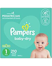 Diapers Size 1 - Pampers Baby Dry Disposable Baby Diapers