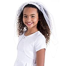 Bonnie Jean Girls First Communion Veil, Classic Beaded Headband