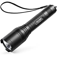 Anker Super Bright Tactical Flashlight, Rechargeable (18650 Battery Included), Zoomable, IP65 Water-Resistant, 900 Lumens CREE LED, 5 Light Modes for Camping and Hiking, Bolder LC90 (Renewed)