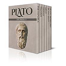 Plato Six Pack 2 - The Republic, Timaeus, Critias, Meno, Plato essay and Plato Biography (Illustrated)