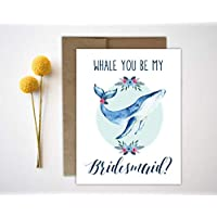 Will you be my bridesmaid maid of honor matron of honor flower girl cards bridal party card