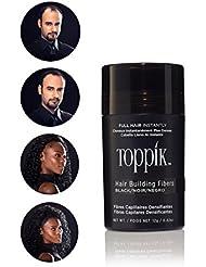 TOPPIK Hair Building Fibers, Black, 0.42 oz.