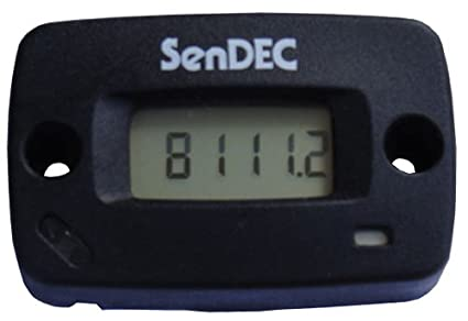 SenDec Surface-Mount Hour Meter with Tachometer, Model# N111-0100-1005