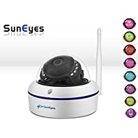 SunEyes SP-V1802W 1080P Full HD Mini IP Camera Dome Outdoor Weatherproof Wireless Wifi ONVIF and Free P2P IR Night Vision