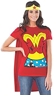 Rubie's Costume DC Comics Wonder Woman T-Shirt With Cape And Headband