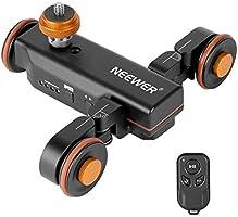 Neewer 3輪ワイヤレスカメラビデオオートドリー 電動トラックレールスライダードリーカー リモコン付き 三つのスピード調整 デジタル一眼レフカメラ、ビデオカメラ、Gopro iPhone、Samsung電話などに対応