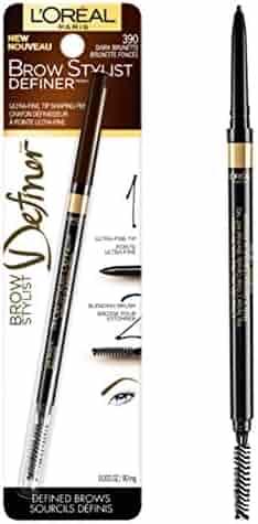L'Oréal Paris Makeup Brow Stylist Definer Waterproof Eyebrow Pencil, Dark Brunette, 1 Count