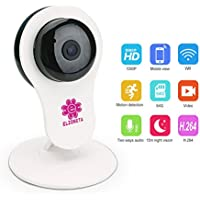 Elzoneta 1080P Baby Monitor Video Surveillance Cameras H264 Wireless Home Security Camera Night Vision Two-Way Audio
