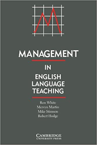 Management in English Language Teaching: Amazon.es: White ...