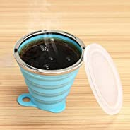 270mL Foldable Silicone Cup Outdoor Retractable Drinking Mug Travel Cup Outdoor Sport Water Mug Telescopic Col