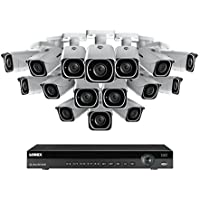 4K Ultra HD IP NVR System with 16 Outdoor 4K 8MP IP Cameras, 130FT Night Vision