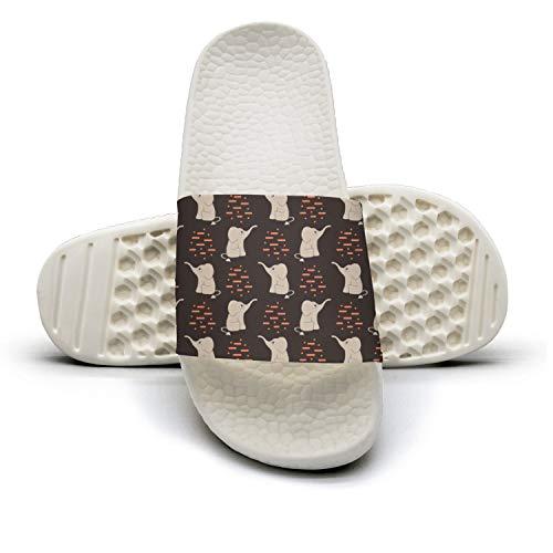 Xjdws Funny Cute Elephants Womens Comfort Sandals Indoor/Outdoor Comfort Womens Flip Flop Performance a2889b