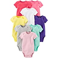 Baby Girls' 8 Pack Short Sleeve Bodysuits