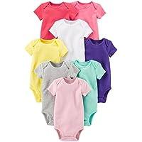 Carter's Baby Girls' 8 Pack Short Sleeve Bodysuits