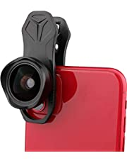 5K HD 16MM Wide Angle Lens for iPhone, Samsung, Pixel,BlackBerry etc,with Clip,Cell Phone Lens,No Distortion,No Dark Corners Or Vignetting