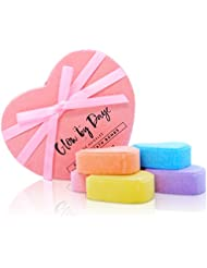 Muscle & Joint Therapy, Heart Bath Bomb LIMITED EDITION Gift Set, 6 Bath Bomb - Essential Oils & Therapeutic Salts - FREE GIFT of Silk Strings in Each Set, Organic, Pink, Glow by Daye