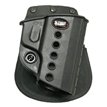 Fobus Tactical PPS Standard Right Hand Conceal Carry Polymer Paddle Holster For Walther PPS / Smith&Wesson S&W M&P Shield / Ruger P95 Taurus PT709 Slim - Black