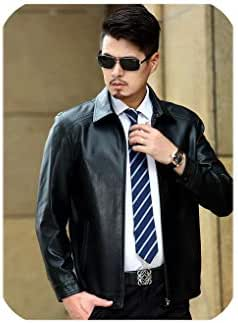 Men Natural Sheepskin Leather Jacket Autumn and Winter Men's Genuine Leather Jackets Thickening Lapel Leather Coat