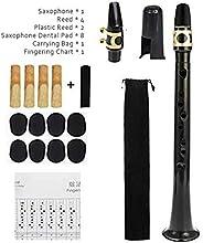 Portable Mini Little Sax Saxophone with 4 Reeds 8 Dental Pad Carrying Bag Mini Pocket Sax Pocket Saxophone Kit