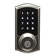 Weiser 9GED21000-002 SmartCode 10 Touch GED2100 Touchscreen Electronic UL Deadbolt, Satin Nickel