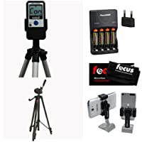 Pocket Radar Ball Coach/ Pro-Level Speed Training Tool and Radar Gun + Focus Full Sized 59 Photo & Video Tripod + Square Jellyfish Pocket-Sized Spring Tripod Mount for Smartphones 2-1/4 - 3-5/8 Wide