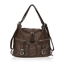 Hynes Victory Slouchy Washed Hobo Handbag Backpack