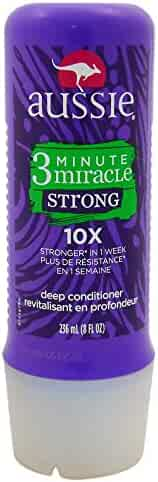Aussie 3 Minute Miracle Strong Conditioning Detangler Treatment, 8 Fluid Ounce