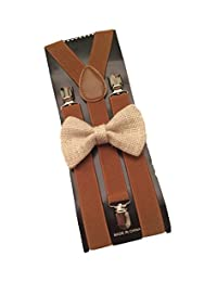 Hemp Bow ties and Barnyard suspenders Combo Mens
