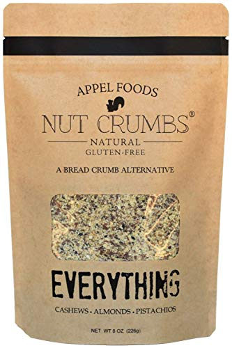 Appel Foods - Nut Crumbs - Bread Crumb Alternative - Gluten Free - Sugar Free - Low Carb - Low Sodium - Raw, Premium Nuts - (Everything)