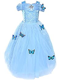 Girls' New Princess Dress Butterfly Party Costumes
