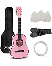 Music Alley 6 String Size 30inch Junior Classical Guitar (Pink) (MA-51)