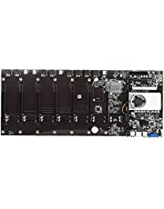 Miner Motherboard BTC-T37 Mining Machine CPU Group 8 Video Card Slots Memory VGA Interface with Low Power Consume Black Computer Peripheral Accessories
