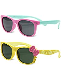 Kids Polarized Cat Eye Aviator Sunglasses for Girls Boys...