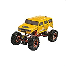 ALEKO® 94180H RC Car Electric Powered Off-Road Crawler Hummer, Yellow 1/10 Scale