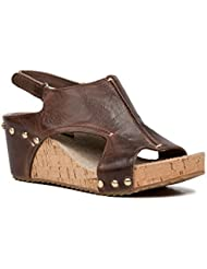 Antelope Womens 554 Leather Brush Zip Sandals