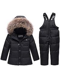 Baby Snowsuit Kids Winter Puffer Jacket,Snow Pants 2-Piece Snowsuit Skisuit Set