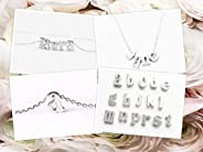 Silver Handmade Lowercase Letter g Initial Necklace