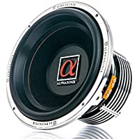 Alphasonik PSW8124J 800 Series 12 Dual 4-Ohm 2,400 Watts Car Audio Stereo Cast Aluminum Basket w/ Double Stacked Magnets Kevlar Reinforced Cone Competition High Power Subwoofer