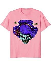Zombie Geisha Head Shirt : Creepy Halloween Ghoul Horror