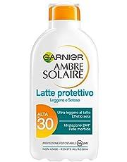 Garnier Ambre Solaire Latte Protettivo Idratante con Burro di Karitè, Protezione Alta IP30, 200 ml