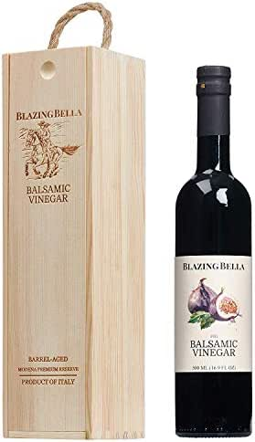 Blazing Bella Fig Balsamic Vinegar - Aged Fig Balsamic of Modena Italy (Full Size - 500 ML)