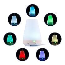 Denknova® Aroma Diffuser 100ml Luftbefeuchter Düfte Humidifier LED mit 7 Farben für Spa Wohn Schlaf Bade oder Kinderzimmer Hotel Babies YogaKinderzimmer Schlafzimmer Büro usw